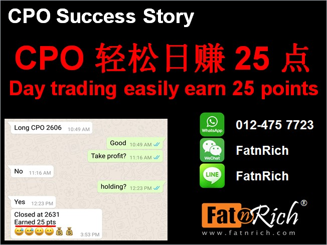 CPO day trading easily earn 25 points